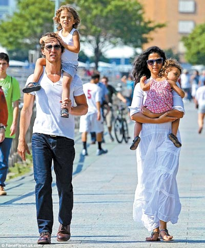 Matthew McConaughey Welcomes Son Livingston