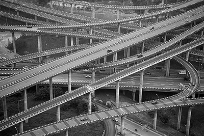 construction of most complicated overpass finished